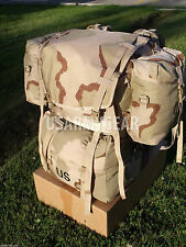 US Army Military Molle 2 Large Desert Ruck Sack Back Pack Frame Set w Pouches GI