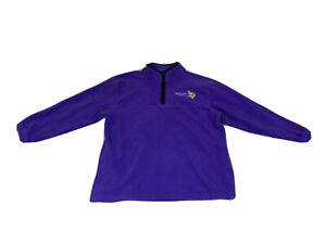 Vintage Minnesota Vikings NFL VFImagewear 1/4 Zip Fleece Pull-over Mens XL