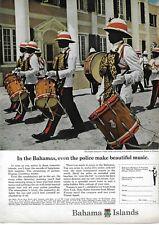 1966 Bahama Islands Royal Police Marching Goombay Drum Band Original Print Ad