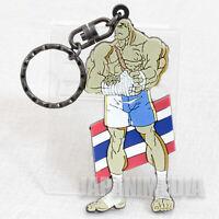 RARE! Street Fighter ZERO Sagat Rubber Mascot Key Chain JAPAN GAME CAPCOM