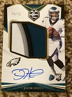 2020 Limited Jalen Hurts Rookie Jumbo Patch oncard Auto RPA Eagles 74/75 4 color