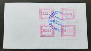 [SJ] Mexico 1994 ATM (Frama Label stamp FDC) *AEROPOST *rare *see scan