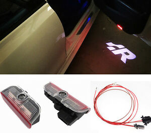 2X Welcome Puddle Courtesy Led Light Door Projector Logo For GOLF MK5 MK6 MK7