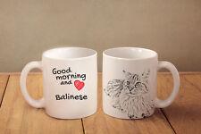 """Balinese - ceramic cup, mug """"Good morning and love """", Ca"""