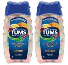 Tums Ultra 1000 Maximum Strength Assorted Fruit Antacid/Calcium 2 Bottle Pack