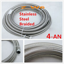 An4 4an 55mm Stainless Steel Braided Oil Fuel Gas Line Turbo Pipe Vacuum Hose