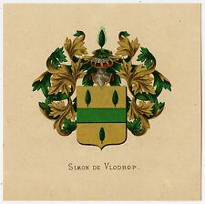 Antique Print-HERALDRY-COAT OF ARMS-SIMON DE VLODROP-Wenning-Rietstap-1883