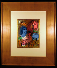 XXe Siecle Original 1969 Color Lithograph by Marc Chagall Framed