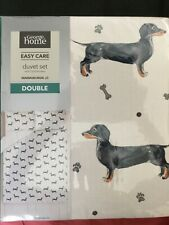 New sausage Dog double duvet cover set with 2 pillowcases.