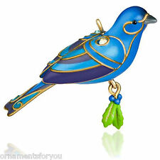 Hallmark 2015 Blue Bunting Miniature  Ornament  creased box