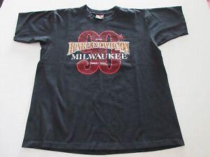 Harley Davidson 95th Anniversary T-Shirt Black Men's Size Large