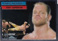 Chris Benoit 2006 Topps Heritage Chrome WWE Card #34 ECW WCW Superstar Legend