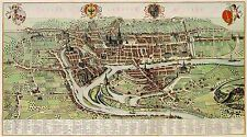 MAP ANTIQUE 1649 BLAEU LIEGE CITY PLAN BELGIUM LARGE ART PRINT POSTER LF1730