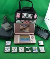 Nintendo DS Lite USG-001 Bundle 9 Games EXCELLENT Condition 3 Cases & charger