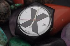 Vintage SWATCH AG1987 X-RATED Straight Edge GB-406 Quartz Watch