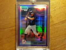 GARY SANCHEZ 2010 B-CHROME 1ST PURPLE REFRACTOR RC IN MAG CASE #853/899 YANKEES!
