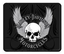 Harley-Davidson Utility Mat, H-D Winged Skull Single Floor Mat, Black 914