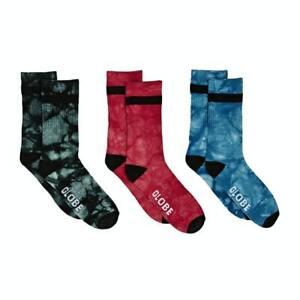 Globe Socks 3 Pack All Tied Up Crew Asst Tie Dye SIZE 7-11 Skateboard Sox