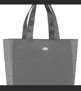 NWT COACH Shoulder Tote Bag Black Silver Shimmer Glitter