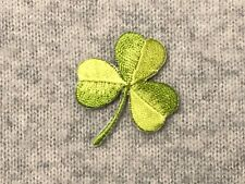 1pc Clover Leaf Embroidered Iron On Patch Lucky Green Irish Clover Shamrock