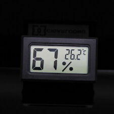 1PC Black Delicate Electronic Digital Cigar Hygrometer Thermometer