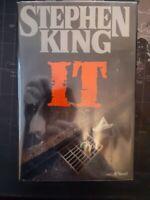 Stephen King – IT – TRUE First Ed HC and DJ w/Brodart Cover $22.95  1986