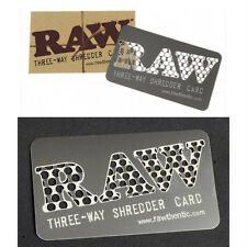 RAW ORIGINAL SHREDDER CARD/GRINDER  THREE-WAY Natural Unrefined Rolling Papers