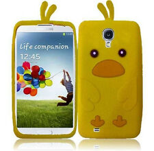 Samsung Galaxy S4 S IV Rubber SILICONE Skin Soft Case Phone Cover Yellow Duck