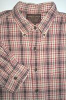Mens L fits like XXL Abercrombie & Fitch The Big Shirt Red Plaid Cotton Shirt