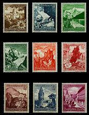 OSTMARK 1938 ** OSTMARKLANDSCHAFTEN ALPENBLUMEN Mi.Nr.675-683 postfr KW € 120,00