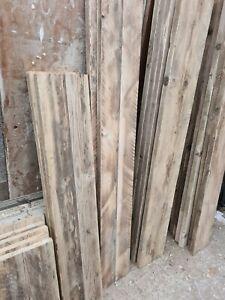 Reclaimed rustic sanded pine scaffold boards industrial shelves bespoke lengths
