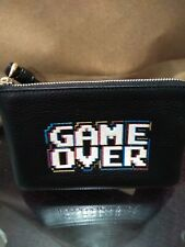 Coach X Pac-Man Game Over Leather Zip Wristlet NWT 73399 New 128$