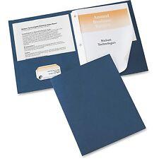"""Avery Two-Pocket Folder Prong Fastener Letter 1/2"""" Capacity Dark Blue 25/Box"""