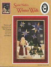 Saint Nick's Winter Walk,Wall Quilt,Pillows,Marti Michell Quilting Pattern #8250