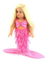 "Pink Mermaid Costume Fits 18"" American Girl Doll Clothes"