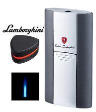 LAMBORGHINI IMPERIA SINGLE JET FLAME CIGAR LIGHTER + BOX / GREY + SILVER