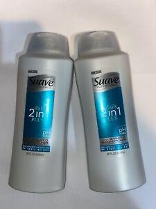 2 Suave Daily 2in1 Plus Shampoo + Conditioner pH Balanced 28 FL OZ
