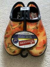 Sloggers Womens 7 New Red Flowers Clogs