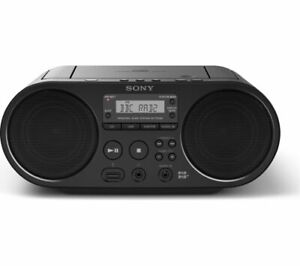 SONY ZS-PS55B PORTABLE DAB FM RADIO BOOMBOX CD PLAYER USB AUX-IN BLACK