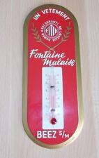 thermomètre glacoide pub- vêtement FONTAINE MALAISE - Beez Sur Meuse Namur - 60s