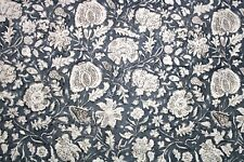 Grey Cotton Printed fabric use for crafts, dress design, women dresses swimwear