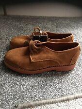 Zara Boys Tan Suede Shoes Brand New