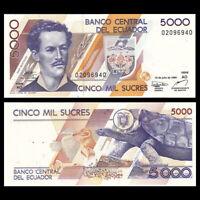 Ecuador 5000 Sucres, 1999, P-128c, UNC, Banknote