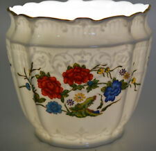 Vintage Aynsley English Famille Rose Pattern Open Vase Fine Bone China