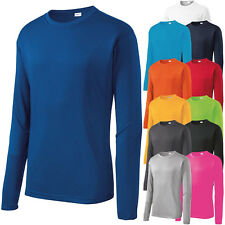 Mens Long Sleeve T-Shirt Base Layer Moisture Wicking Workout Dri-Fit XS-4XL NEW