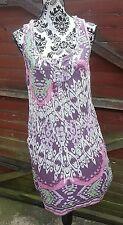 💙Pretty WHITE STUFF Purple/Pink Multi Dress/Kaftan, Size 12💙