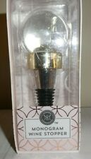 """J"" Monogram Snow Globe Wine Stopper by Modern Expressions - New In Box"