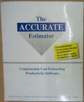The Accurate Estimator construction cost estimating productivity software by CPR