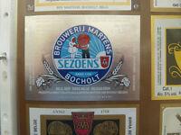 VINTAGE BELGIUM BEER LABEL. MARTENS BREWERY - SEZOENS 25 CL
