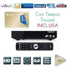 DECODER SATELLITARE SAT DVB-S S2 TIVUSAT HUMAX TIVUMAX PRO HDMI 1080 SCD TESSERA